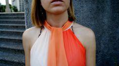 I love this orange dip dye chiffon dress. – Nagyon szeretem ezt a narancs. Dip Dye, Chiffon Dress, China, Summer Dresses, Orange, Tank Tops, My Style, How To Wear, Inspiration