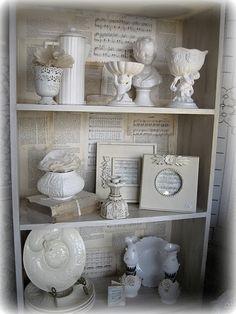 Back of the cabinet...cute idea :)