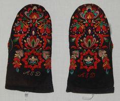 Vantar, Floda, Dalarna. Swedish Embroidery, Knit Mittens, Folk Art, Needlework, Costumes, Knitting, Gloves, Inspiration, Fashion