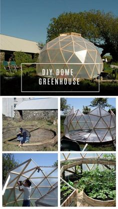 If you have a small space for a greenhouse and want to maximize your growing space, you may want to consider a geodesic dome as it gives you a great space for vertical growing while you use only a small surface space. They are not only aesthetically appealing, but there are more reasons as well … Outdoor Gear, Small Greenhouse, Design, Garden, Little Green House, Gardens, Gardening, Home Landscaping