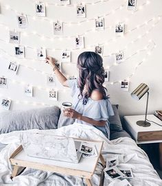 polaroids + fairy lights