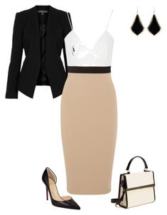 """""""Untitled #352"""" by angela-vitello ❤ liked on Polyvore featuring Christian Louboutin, Topshop, Victoria Beckham, Kendra Scott and Ted Baker"""
