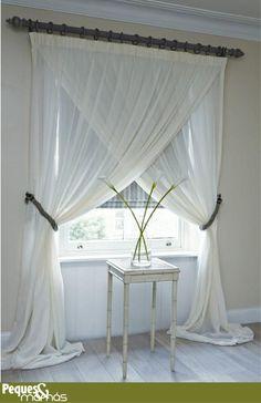 Una buena idea para las cortinas.