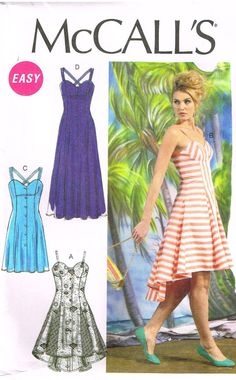 McCalls M6740 Sewing Pattern Misses Dresses Size by OhSewWorthIt, $5.95