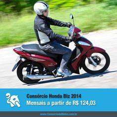 Econômica, ágil e prática. Assim é a Honda Biz, motoneta que detém grande parte das vendas de motocicletas, ocupando atualmente o segundo lugar de modelo mais comercializado no Brasil. Acesse nossa matéria e veja como comprar a sua: https://www.consorciodemotos.com.br/noticias/honda-biz-2014-em-ate-50-meses-pelo-consorcio?idcampanha=288&utm_source=Pinterest&utm_medium=Perfil&utm_campaign=redessociais