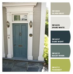 Paint colors from Chip It! by Sherwin-Williams Exterior Paint Colors For House, Outdoor Paint, Front Door Paint Colors, Paint Colors For Home, Interior Paint Colors Schemes, House Exterior, Exterior Design, Outdoor Remodel, House Paint Color Combination