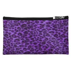 Purple Leopard Pattern Cosmetics Bag