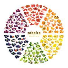 Curioso círculo cromático de alimentos frescos de nuestro mercado!!!!