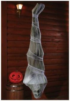 Stay away from deadly creatures lurking in the shadows. You may end up like this 72 inch Cocoon Corpse for example. We're pretty sure this poor guy thought he'd be safe but clearly he was wrong! Now, he's nothing more than a lifeless corpse hanging on your porch now. Poor guy!#Halloween#Cocoon#HalloweenDecorations#HalloweenIdeas[affiliate]