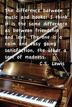 C.S. Lewis quote books and music