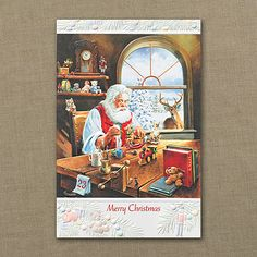 Christmas Preparations - Holiday Card.  Available at Persnickety Invitation Studio.