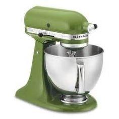 Sage green Kitchen Aid stand mixer