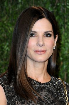 Sandra Bullock Long Straight Cut - Long Hairstyles Lookbook - StyleBistro