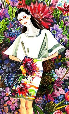Garden - illustration by Sunny Gu | House of Beccaria~