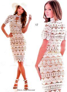 Crochetemoda: Crochet - Vestido Branco XI