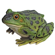 RIBBIT THE FROG GARDEN STATUE DESIGN TOSCANO