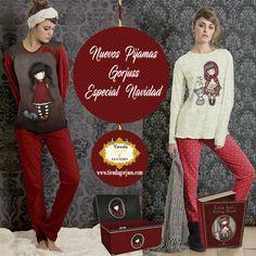 """¡¡Ya los tenemos aquí!!  Los nuevos Pijamas Gorjuss """"Especial Navidad"""" que tanto estabais esperando ya han llegado a la shop!!  En 2 diseños diferentes a elegir: """"Ruby"""" y """"Little Red Riding Hood"""" para niña y mujer, desde 43,99€!!  @tiendagorjuss.com #gorjuss #santorolondon #pijamas #invierno #novedad #navidad #niña #mujer #hogar #textil #tiendagorjuss"""