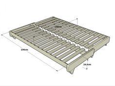 Sofá-cama Fresh estructura en posición cama. Haiku-Futon®