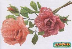 Цветы из бисера для украшения интерьера