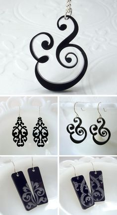 Beautiful earrings in black