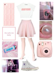 """""""Untitled #345"""" by lovelylunahemmings ❤ liked on Polyvore featuring Converse and Fujifilm"""