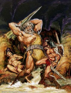 Original cover painting by Earl Norem from The Savage Sword. Original cover painting by Earl Norem from The Savage Sword of Conan published by Marvel Comics April Marvel Comics, Heros Comics, Conan Comics, Boris Vallejo, Arte Horror, Horror Art, Comic Books Art, Comic Art, Conan Der Barbar
