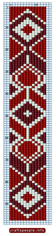 Pattern for beading on a loom