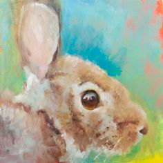 The series this week was painted on acrylic primed gesso boards. Here are two of the primed boards. The rabbit was painted on the board to the right. Bunny Painting, Spring Painting, Spring Art, Acrylic Painting Lessons, Simple Acrylic Paintings, Small Paintings, Watercolor Fish, Watercolor Paintings, Easter Paintings