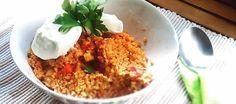 Πλιγούρι κυπριακό με διάφορα λαχανικά: Ένα υγιεινό πιάτο από την Κύπρο που μπορείτε να το φάτε έτσι ή σα συνοδευτικό σε άλλες συνταγές Grains, Rice, Recipes, Food, Rezepte, Essen, Recipe, Yemek