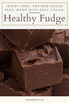 Recipes for gut health. Dessert for gut health. Homemade fudge recipe. Health sugar recipe. Healthy Fudge, Healthy Desserts, Healthy Food, Dairy Free Recipes, Diabetic Recipes, Homemade Fudge, Probiotic Foods, No Sugar Foods, Diabetes Diet