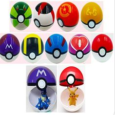 Moonideal 9 Pieces Different Style Ball  9 Pieces Figures Plastic Super Anime Figures Balls for Pokemon Kids Toys Balls -- More info @