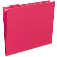 Smead Hanging File Folders, 1/5 Tab, 11 Point Stock, 25/Box