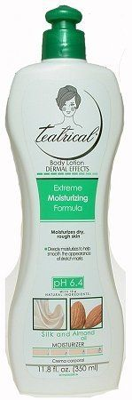 Teatrical Dermal Effects Moisturizing Formula by TEATRICAL. $7.28. Deeply moisturizes to help smooth apperance of stretchmarks. Teatrical Extreme Moisturizing Formula combines effective moisturizing ingredients with silk and alomond extracts to deeply moisturize skin and help smooth the appearance of stretchmarks.. Save 46%!