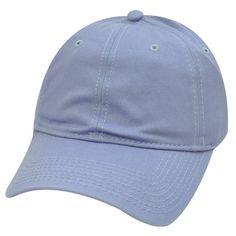 Blank Plain Baseball Hat Cap Solid Light Sky Blue Girls Womens Garment Wash Game