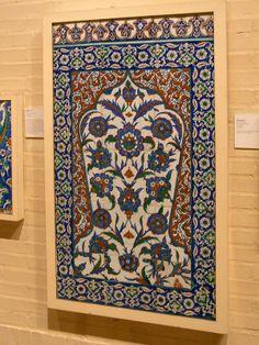 Tile Panel 16th Cent CE Ottoman Turkey - Penn Museum - Philadelphia USA