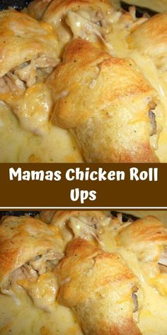 Mamas Chicken Roll Ups - No matter how good I get at cooking, my mother will be better! She's always one step ahead of me, last weekend, she made us these chicken roll-ups, I'm still imagining the taste in my mouth! Check out her recipe. Ww Recipes, Cooking Recipes, Recipies, Skinny Recipes, Custard Recipes, Easy Meat Recipes, Broccoli Recipes, Cake Recipes, Dinner Recipes