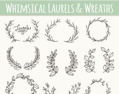 Chalkboard Damask Acanthus & Lace Clip Art // by thePENandBRUSH