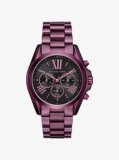 Bradshaw Plum-Tone Watch by Michael Kors