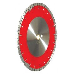 """12"""" TC Combo Blade, 12mm jumbo rim, laser-welded, turbo, alternating segments, drive pin hole, key hole gullet and undercut proection. 12 inch TC Combo Blade for cutting asphalt, block, brick, clay pavers, concrete, ductile iron pipe, field stones, green concrete, hard brick, hard concrete, marble, granite, pavers, and refractory brick. Dry use with masonry saws, high speed power saws and walk behind saws."""