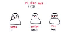 I feel... #German #deutsch