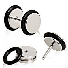 Piercing faux plug acier chirurgical
