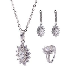 GET $50 NOW | Join RoseGal: Get YOUR $50 NOW!http://www.rosegal.com/necklaces/rhinestone-lotus-necklace-set-858851.html?seid=2275071rg858851