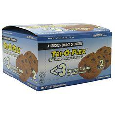 Chef Jay's Tri-O-Plex Low Sugar Cookies Oatmeal Raisin 3 oz. (86g) - Bars - Protein - Sports Nutrition & More