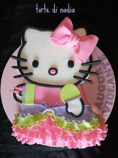 Hello Kitty Princess Cake, Happy Birthday from all the Kitty-Witties! Fancy Cakes, Cute Cakes, Pretty Cakes, Beautiful Cakes, Amazing Cakes, Pink Cakes, Hello Kitty Theme Party, Hello Kitty Cake, Hello Kitty Birthday