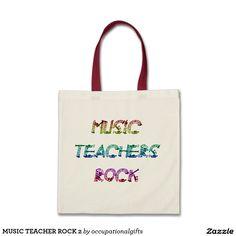 MUSIC TEACHER ROCK 2 TOTE BAG