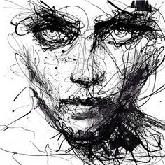 In Trouble, She Will – Agnes Cecile - 7 Black and White Art Prints to Add to Your Home . Tatoo Tree, Art Sketches, Art Drawings, Abstract Drawings, L'art Du Portrait, Portraits, Agnes Cecile, Scribble Art, Ouvrages D'art