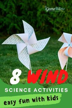 Fun easy wind science experiments for kids learn wind power, renewable energy at home. Hands-on outdoor STEM projects activities for weather unit or nature unit for spring and fall for preschool kindergarten school age. Science Experiments Kids, Preschool Science Activities, Science Chemistry, Fun Activities To Do, Preschool Kindergarten, Physical Science, Science Education, Science For Kids, Earth Science