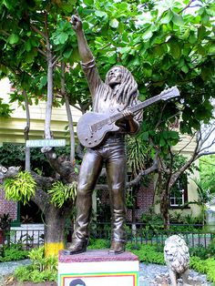 Bob Marley Statue at the Bob Marley Museum Kingston Jamaica....the Myth, The Man, The Legend!!!! Time to pull out my guitar!