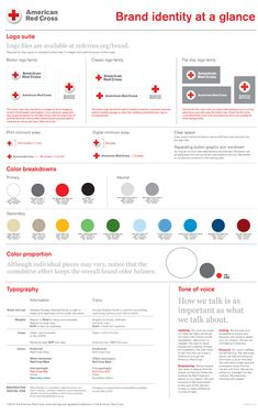 American Red Cross Logo Design Style Guide - great example of effective brand guide