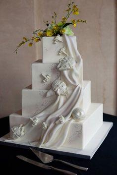 Image result for subtle star wars wedding cake